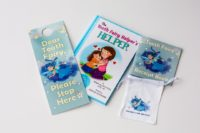 Get your Tooth Fairy Helper Door notification hanger and custom Tooth Fairy Helper Bag today