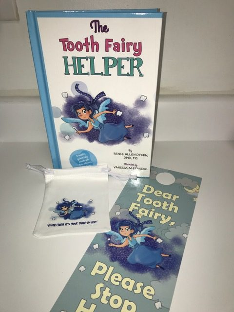Add on you own Tooth Fairy Helper Door notification hanger and custom Tooth Fairy Helper Bag